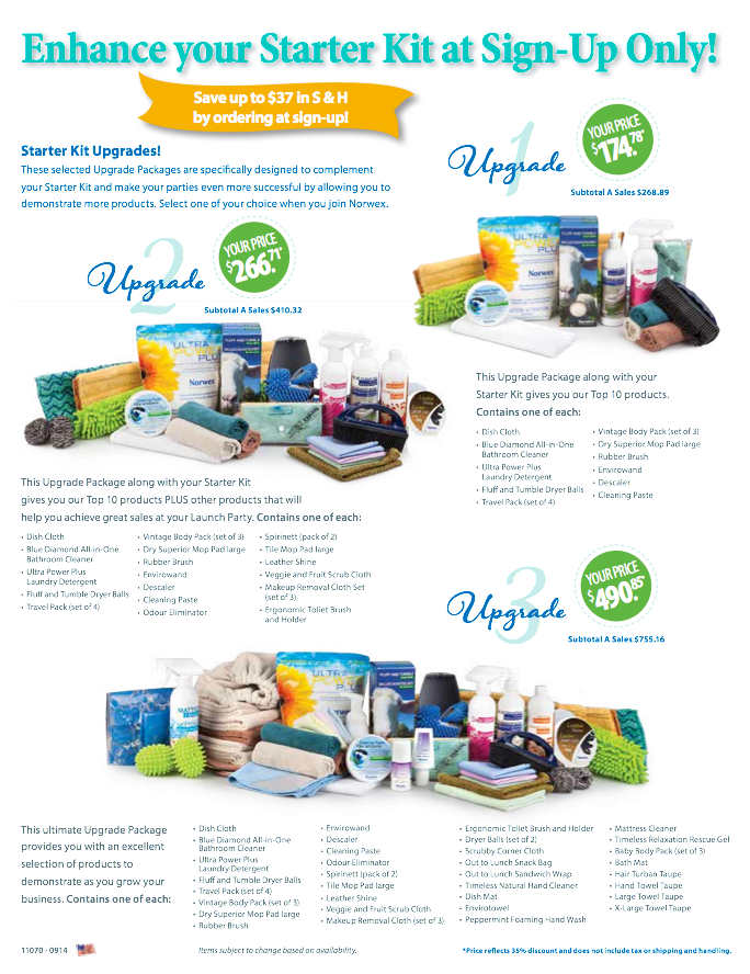 Norwex Starter Kit Upgrades!