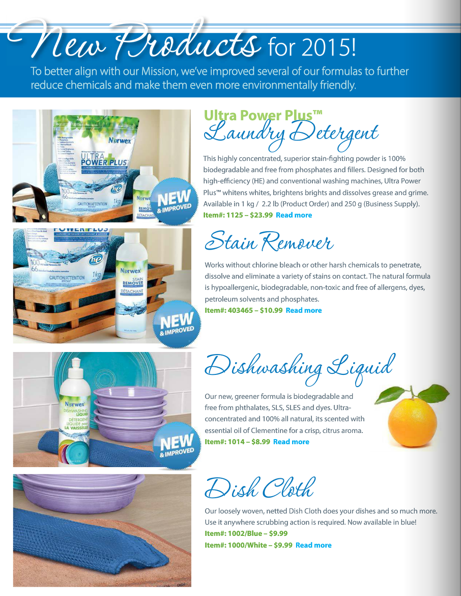 New Norwex Products for 2015