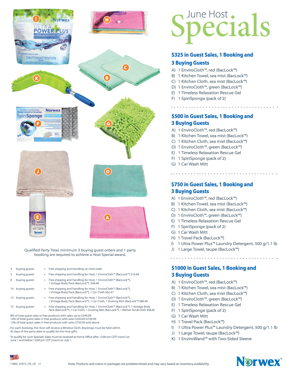 Norwex Customer and Hostess Specials for June 2015!