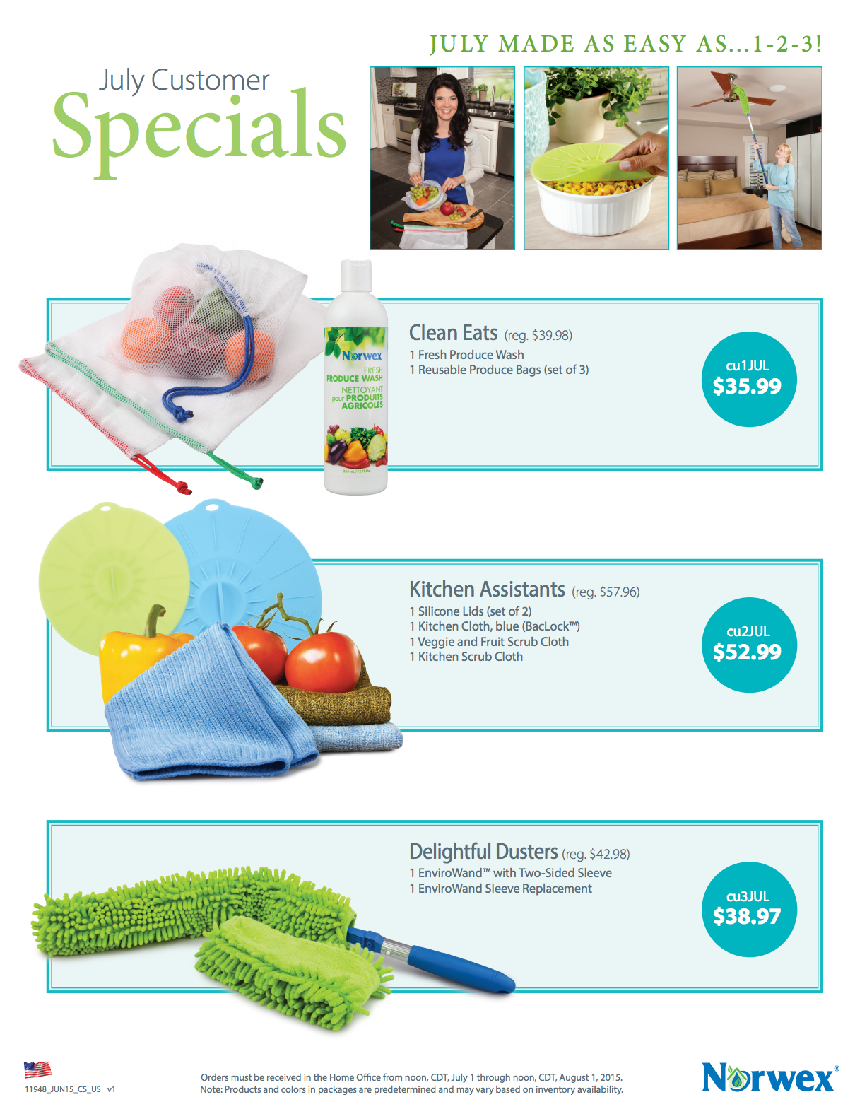 July Norwex Hostess Gifts And Customer Specials Work