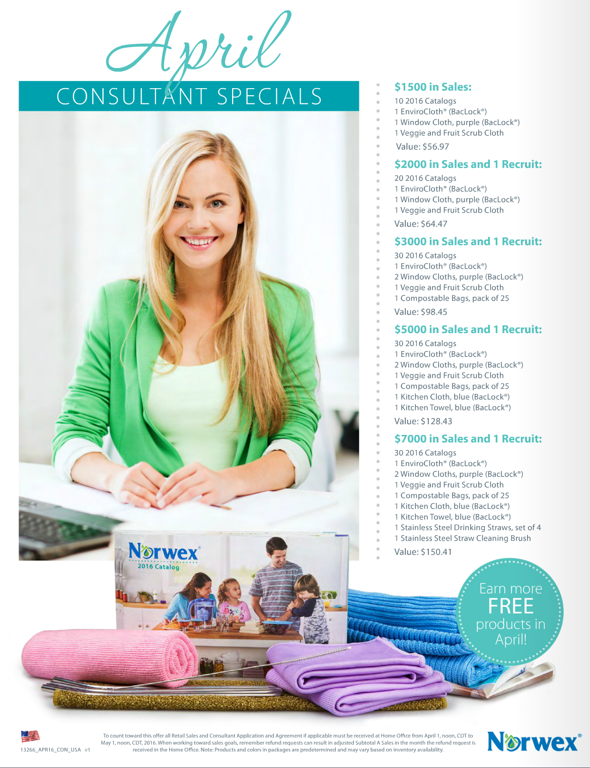 Norwex Hostess and Customer Specials for April 2016