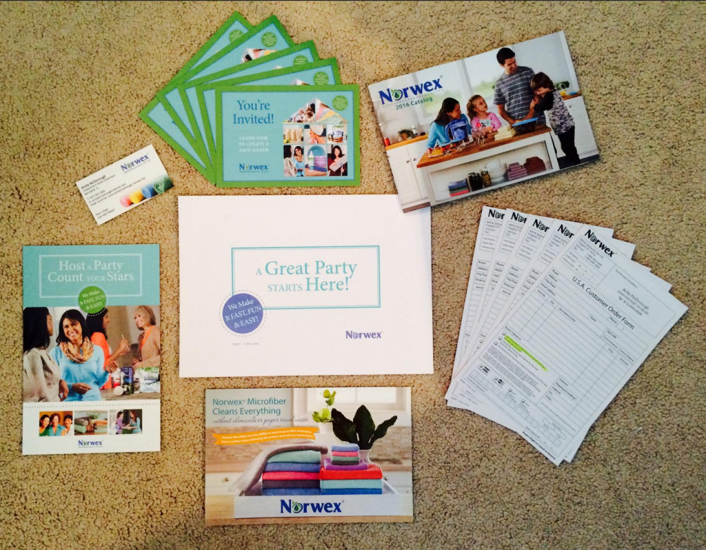 hostess packets and supplies for your norwex party work with water - Norwex Party Invitation
