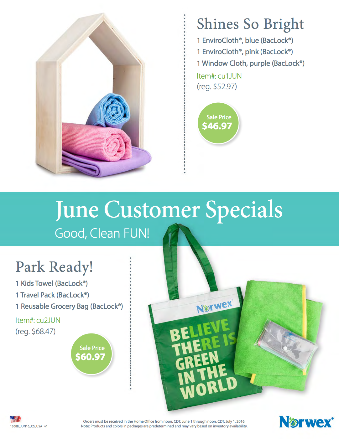 Norwex June Customer and Hostess Specials