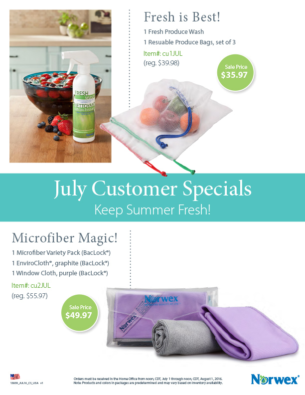 Norwex_Customer_Specials_Sale_July