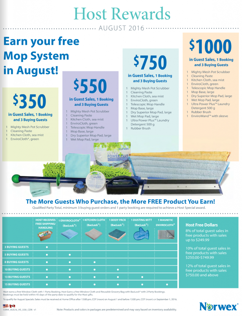 Norwex_Hostess_Hosting_Special_Gifts_August_2016