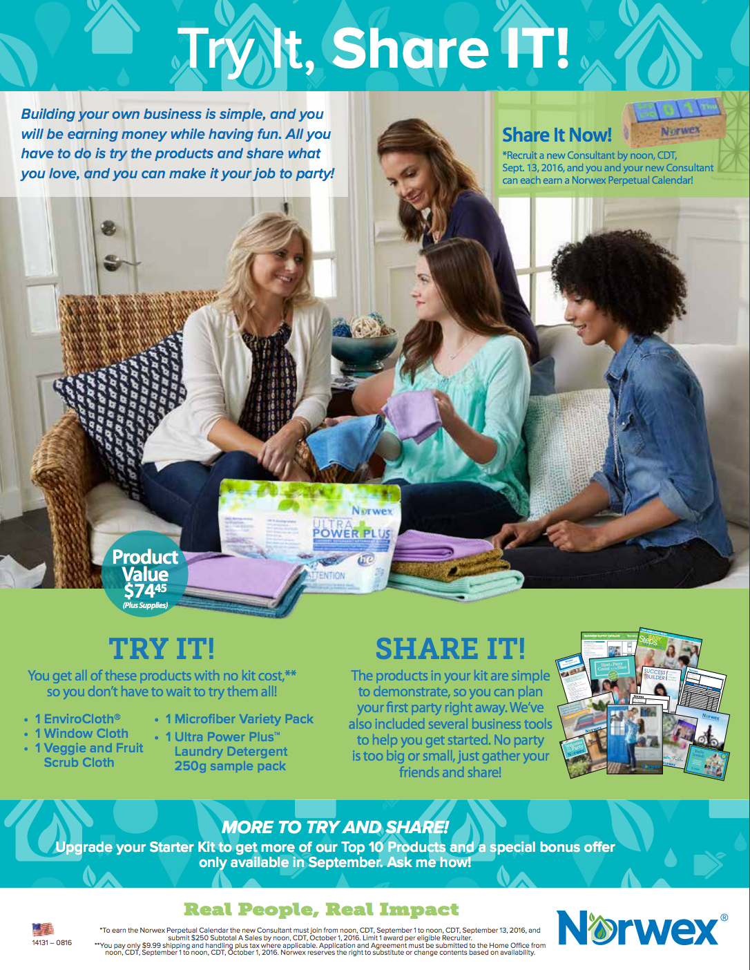 Join Norwex Free- Try It, Share It!