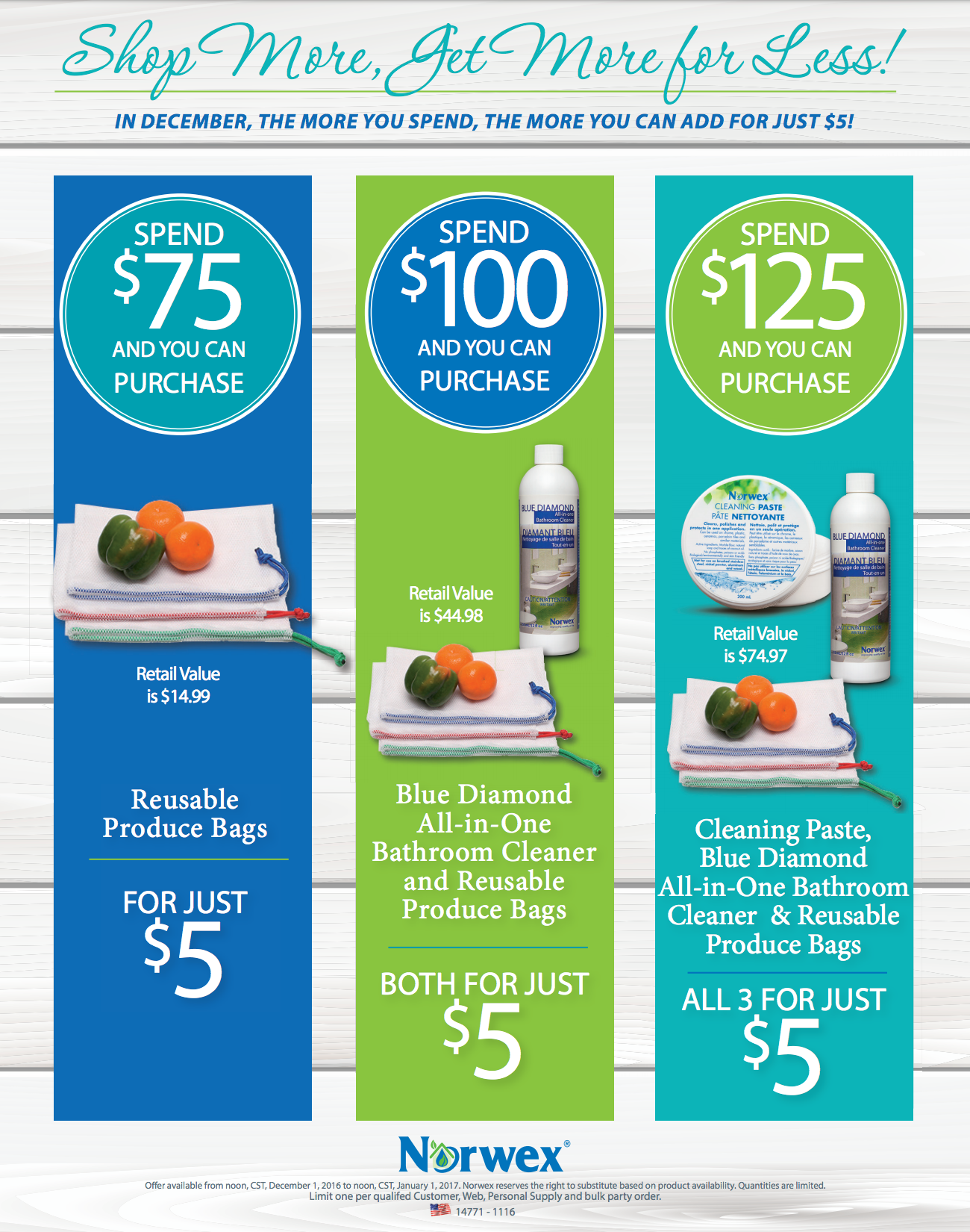 Spend and Get, Get, Get More with Norwex!