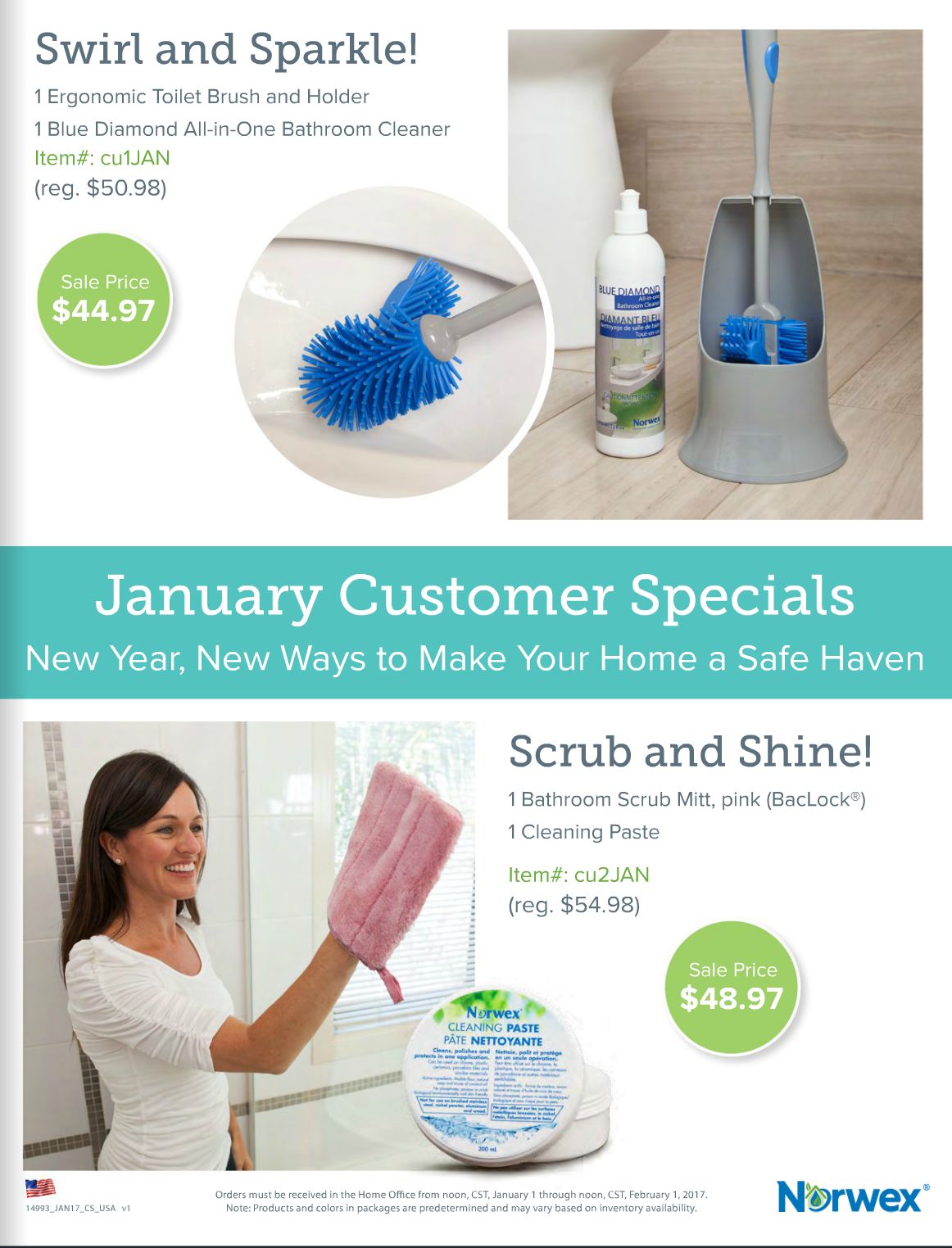 January Norwex Hostess and Customer Specials