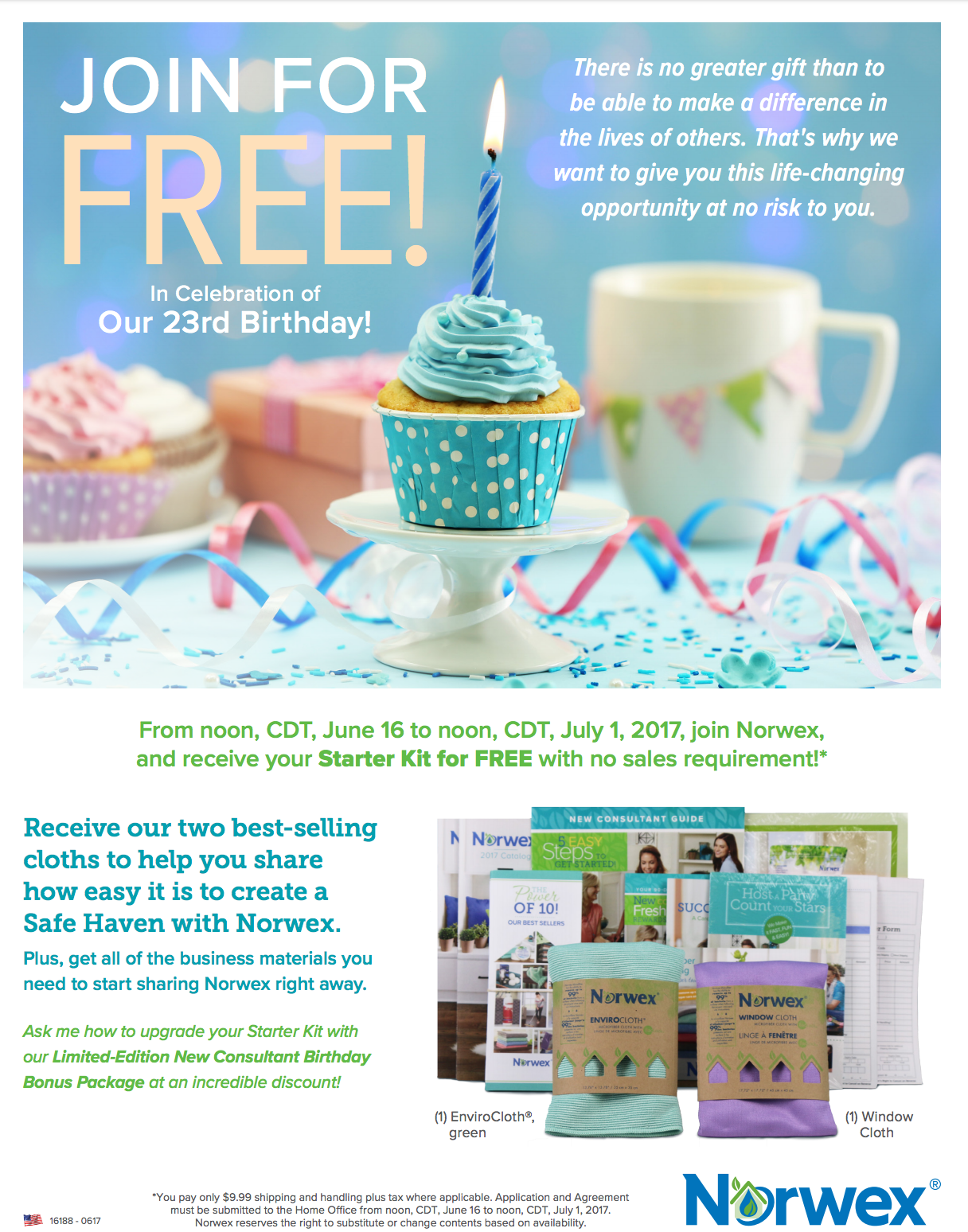 Join Norwex for Free in June!